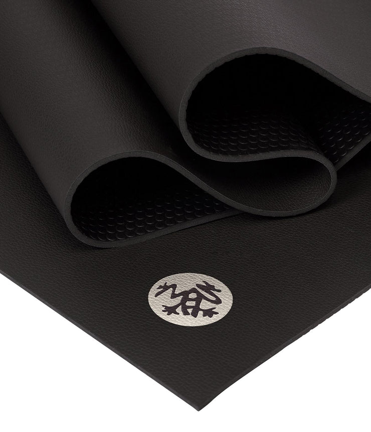 Manduka GRP Lite 4mm Hot Yoga Mat - Black - folded | Eco Yoga Store