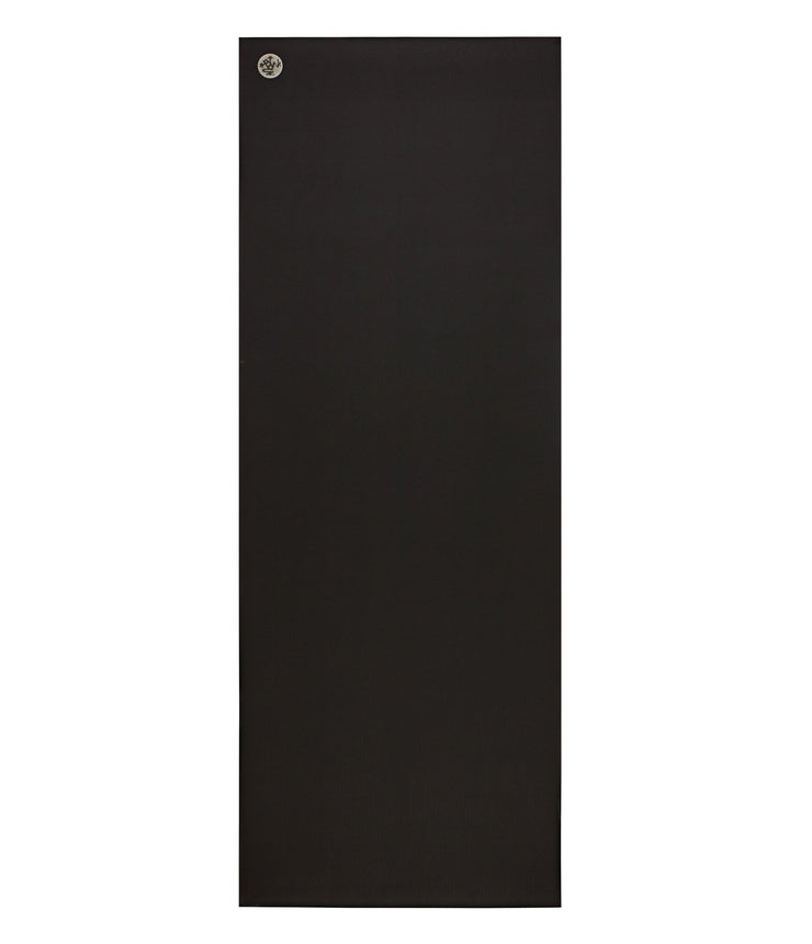 Manduka GRP Lite 4mm Hot Yoga Mat - Black - unfurled | Eco Yoga Store