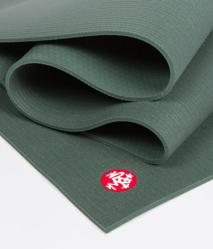 Manduka PRO 6mm Extra Long - Sage - folded | Eco Yoga Store