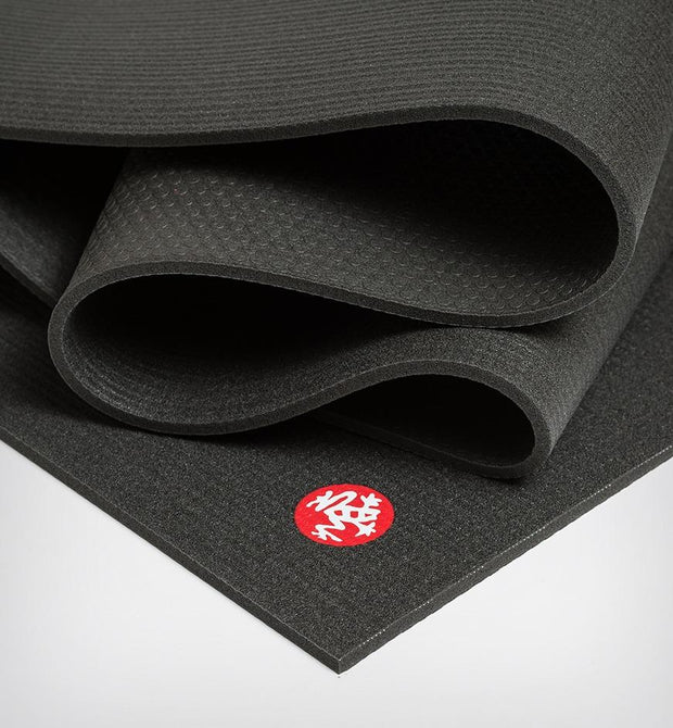 Manduka PRO 6mm Extra Long - Black - folded | Eco Yoga Store