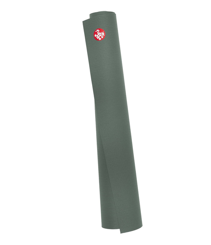 Manduka PRO Travel 2.5mm Yoga Mat - Sage - rolled | Eco Yoga Store