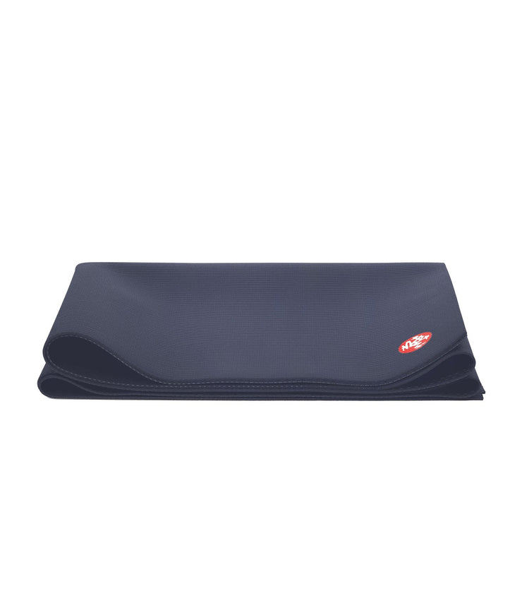 Manduka PRO Travel 2.5mm Yoga Mat - Midnight - folded | Eco Yoga Store