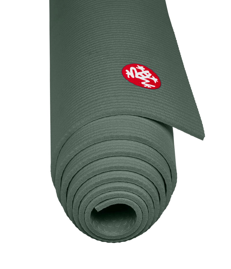 Manduka PROLite 5mm - Sage - rolled end on | Eco Yoga Store