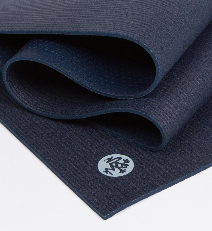 Manduka PROLite 5mm Long Yoga Mat - Midnight - folded | Eco Yoga Store