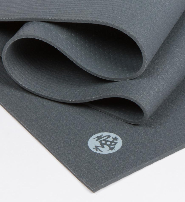 Manduka PROLite 5mm Long Yoga Mat - Thunder - folded | Eco Yoga Store