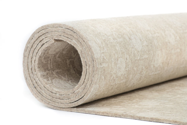 Yolana Pure NZ Wool Yoga Mat - rolled cross section | Eco Yoga Store