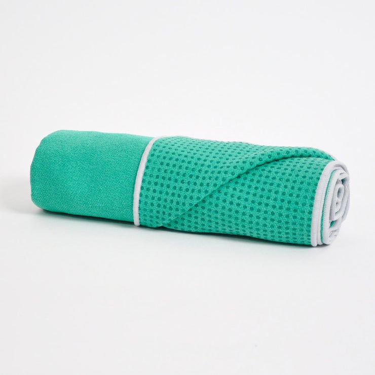 TRIBE Get a Grip Towel - Emerald | Eco Yoga Store