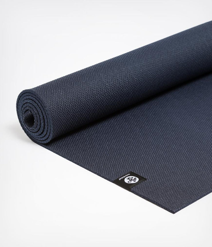 Manduka X 5mm Yoga Mat - Midnight - Semi unfurled | Eco Yoga Store