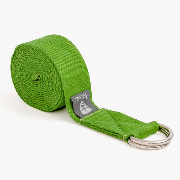 TRIBE Cotton Strap - Lime - Rolled | Eco Yoga Store