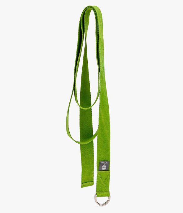 TRIBE Cotton Strap - Lime - Unrolled | Eco Yoga Store