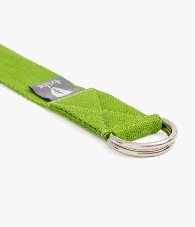 TRIBE Cotton Strap - Lime - D Ring | Eco Yoga Store