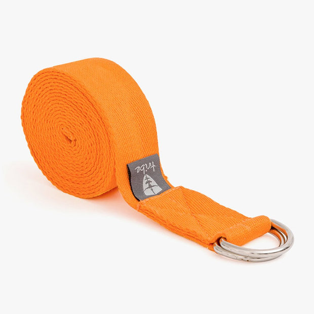 TRIBE Cotton Strap - Mandarin - Rolled | Eco Yoga Store