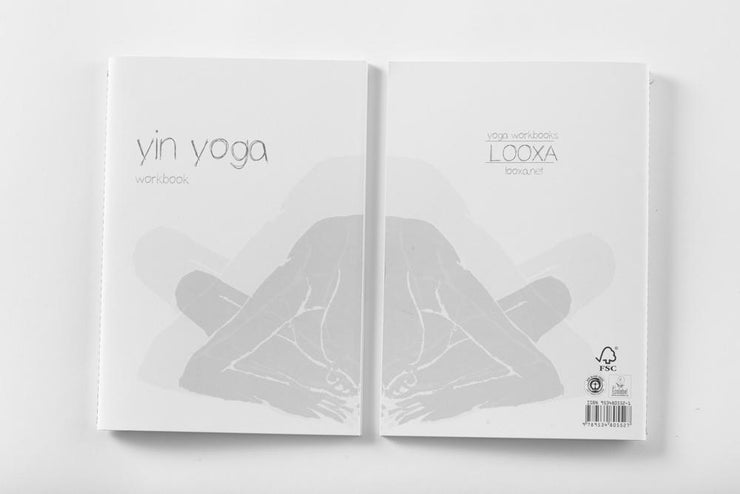 Yoga Workbook - Yin Yoga - book cover front & back | Eco Yoga Store