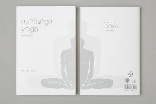 Yoga Workbook - Ashtanga Yoga - book cover front & back | Eco Yoga Store