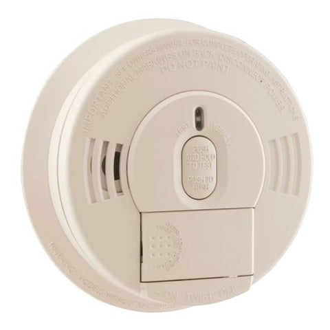 Kidde i12060 Smoke Detector, 120V Hardwired Ionization Spring Load Battery Door w/Hush Button & Battery Backup