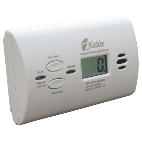 Kidde KN-COPP-B-LPM Carbon Monoxide Detector, 9V Batter Powered Peak Level Memory w/Digital Display