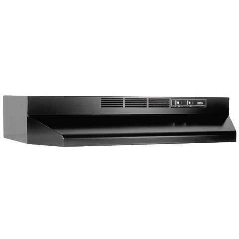 "Broan-Nutone 413023 30"", Black, Under Cabinet Hood,  Non-ducted."