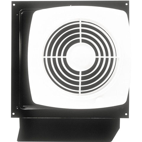 "Broan-Nutone 509S 8"", Through Wall Fan, White Plastic Grille, 180 CFM."