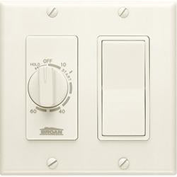 Broan-Nutone 63V 60 Minute Time Control with one rocker switch, Ivory.