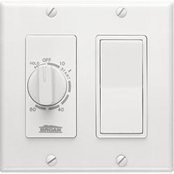 Broan-Nutone 63W 60 Minute Time Control with one rocker switch, White.