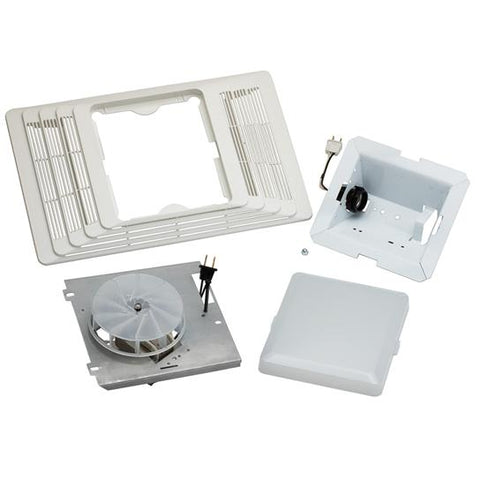 Broan-Nutone 657F Finish Pack. Fan/Light Assembly and Grille, 100W Light, 70 CFM.
