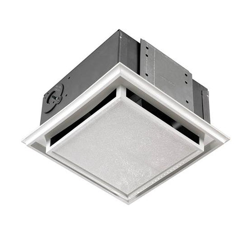 Broan-Nutone 682NT Ceiling/Wall Fan, Duct-Free, White Plastic Grille, 1.0 amp. Charcoal Filter.