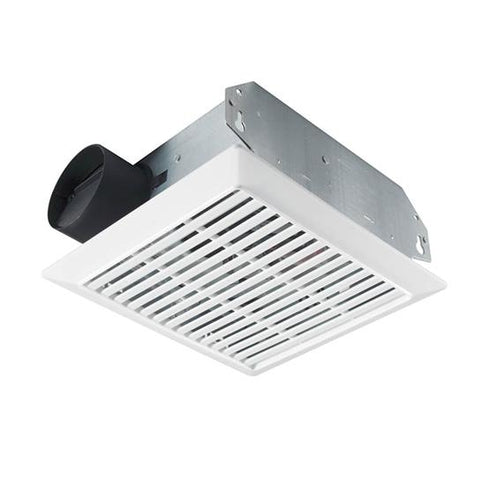 Broan-Nutone 695 Ceiling/Wall Mount Fan, White Plastic Grille, 70 CFM.