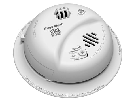brk hd6135fb 120v hardwired heat alarm w battery back up