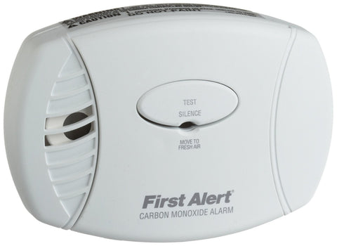 brk co605b first alert carbon monoxide detector 120v ac dc plug in w battery backup