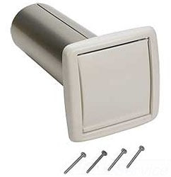 "Broan-Nutone WC650 4"" Wall Cap for 4"" round duct. Includes 4"" diameter metal duct connector and four mounting screws."