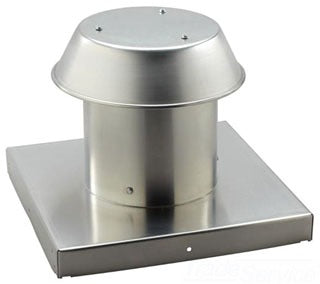 "Broan-Nutone 611CM Roof Cap, For Flat Roof, Aluminum, Up to 8"" Round Duct."