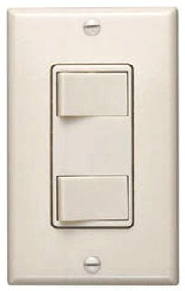 Broan-Nutone 68V 120V Two-Function Controls - Ivory Finish