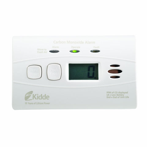 Kidde C3010D Carbon Monoxide Detector, 10-Year Worry-Free DC Sealed Lithium Battery Powered w/Digital Display