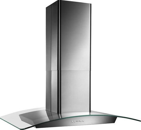 "Broan-Nutone EI5936SS 35-3/8"" X 25-5/8"", Island version, Stainless steel, Curved Glass Canopy, 500 CFM, Electronic contro"
