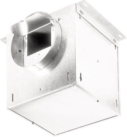 "Broan-Nutone L150L Ventilator; 147 CFM Straight Through, 1.1 Sones; 142 CFM Right Angle, 1.3 Sones. 6"" rd. duct connectors. 120V."