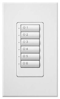 Lutron SS-6BI-GWH-E00 SOFTSWITCH 48 6BUTTON SEETOUCH