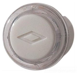 Broan-Nutone PB18WHCL Door Chime Pushbutton, clear with white cap — unlighted