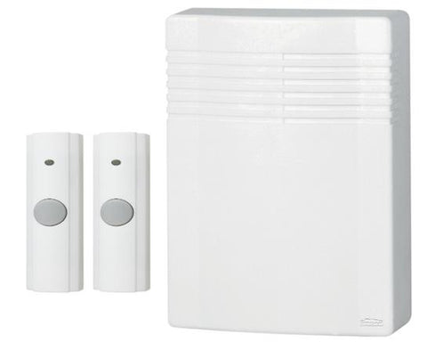 Broan-Nutone LA542WH NUTONE CHIME WHITE WIRELESS 2 BUTTON