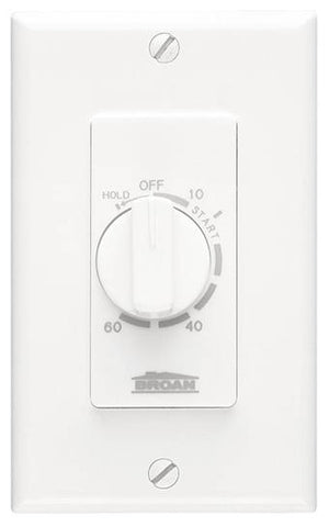 Broan-Nutone P59W BROAN P59W 60 MINUTE WHITE TIMER