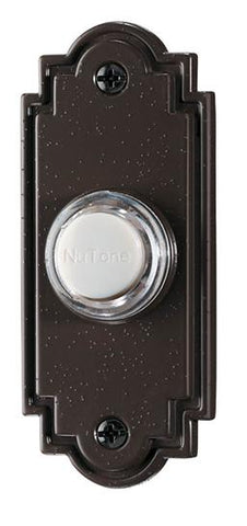 Broan-Nutone PB15LBR Door Chime Pushbutton, lighted in oil-rubbed bronze