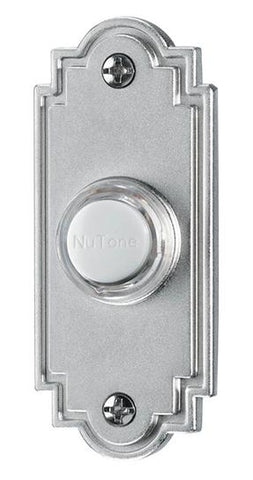 Broan-Nutone PB15LSN Door Chime Pushbutton, lighted in satin nickel