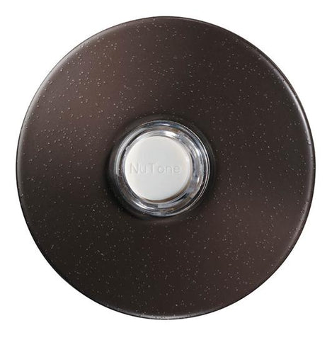 Broan-Nutone PB41LBR Door Chime Pushbutton, oil-rubbed bronze stucco — lighted
