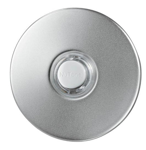 Broan-Nutone PB41LSN Door Chime Pushbutton, satin nickel stucco — lighted