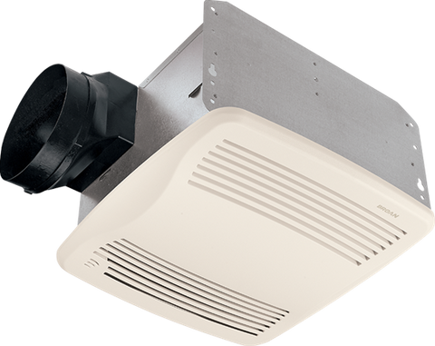 Broan-Nutone QTXE110S Ultra Silent, Humidity Sensing Fan, White Grille, 110 CFM.  Energy Star® Qualified.