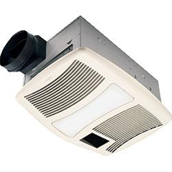 Broan-Nutone QTXN110HFLT 110CFM Ventilation Fan with Heater and Flourescent Light