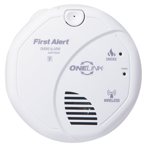 brk sa511b first alert smoke alarm wireless battery powered photoelectric onelink w voice warning