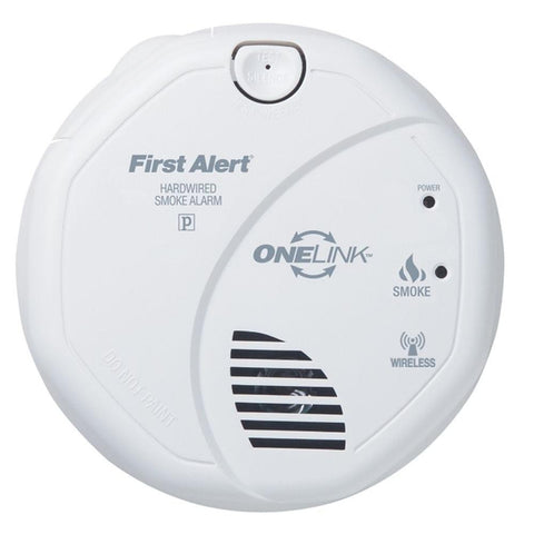 brk sa520b first alert smoke alarm wireless 120v hardwired interconnectable onelink w battery backup