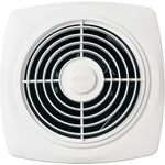 "Broan-Nutone 508 10"", Through Wall Ventilation  Fan, White Square Plastic Grille, 270 CFM."