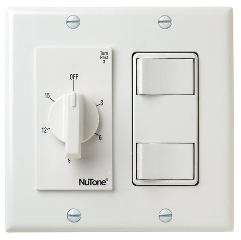 Broan-Nutone VS69WH 15 Min. Timer/2 On/Off Switches (White)