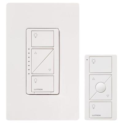 Lutron P-PKG1W-WH 600W RF DIMMER/ REMOTE